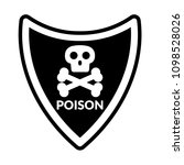 poison and shield.protection... | Shutterstock .eps vector #1098528026