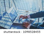 banking or shopping online  e... | Shutterstock . vector #1098528455