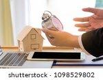 businessman working with... | Shutterstock . vector #1098529802