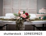 sweetheart and cake table with...   Shutterstock . vector #1098539825