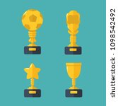 vector set icon gold cups  ... | Shutterstock .eps vector #1098542492