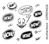 Set of comic book wow for your design - stock vector