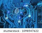 fingerprint login authorization ... | Shutterstock . vector #1098547622