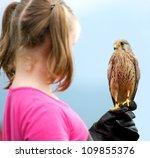 A Girl Holding A Hawk