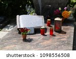 exclusive marble grave design  | Shutterstock . vector #1098556508