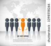 human resources   we are hiring ... | Shutterstock .eps vector #1098558266