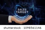 painted hand shows concept... | Shutterstock . vector #1098561146