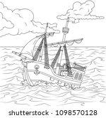 vector illustration  children's ... | Shutterstock .eps vector #1098570128