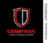 letter cd logo design vector | Shutterstock .eps vector #1098580226