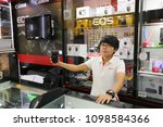 Small photo of KHONKAEN -THAILAND. MAY 24, 2018 : EOS Canon Lens, Cameras and speedlite flash display and sale at JJ.PhotoCenter camera shop at Central Plaza KhonKaen. It is premium reseller of Canon in Thailand
