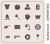 modern  simple vector icon set... | Shutterstock .eps vector #1098587342