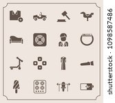 modern  simple vector icon set... | Shutterstock .eps vector #1098587486