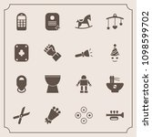 modern  simple vector icon set... | Shutterstock .eps vector #1098599702
