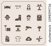 modern  simple vector icon set... | Shutterstock .eps vector #1098599726