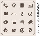 modern  simple vector icon set... | Shutterstock .eps vector #1098604166