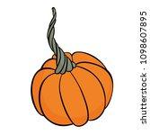 autumn vegetables. vector... | Shutterstock .eps vector #1098607895
