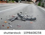 car accident on the road | Shutterstock . vector #1098608258