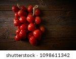 hanging tomatoes de colgar from ... | Shutterstock . vector #1098611342