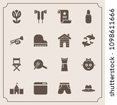 modern  simple vector icon set... | Shutterstock .eps vector #1098611666
