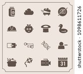 modern  simple vector icon set... | Shutterstock .eps vector #1098611726