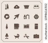 modern  simple vector icon set... | Shutterstock .eps vector #1098616502