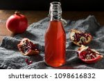 homemade sweet red pomegranate... | Shutterstock . vector #1098616832