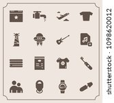 modern  simple vector icon set... | Shutterstock .eps vector #1098620012