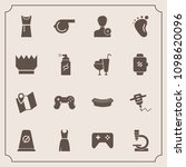 modern  simple vector icon set... | Shutterstock .eps vector #1098620096