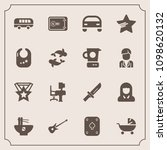 modern  simple vector icon set... | Shutterstock .eps vector #1098620132