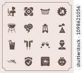 modern  simple vector icon set... | Shutterstock .eps vector #1098621056