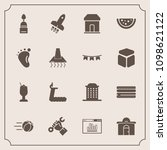 modern  simple vector icon set... | Shutterstock .eps vector #1098621122