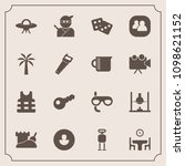 modern  simple vector icon set... | Shutterstock .eps vector #1098621152