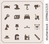 modern  simple vector icon set... | Shutterstock .eps vector #1098621215