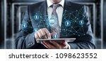 global worldwide communication... | Shutterstock . vector #1098623552