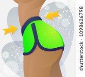 active sport girl with... | Shutterstock .eps vector #1098626798