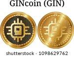 set of physical golden coin...   Shutterstock .eps vector #1098629762
