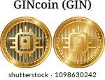 set of physical golden coin...   Shutterstock .eps vector #1098630242