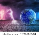 global warming and apocalypse... | Shutterstock . vector #1098633548