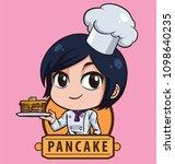 logo female shot hair chef...   Shutterstock .eps vector #1098640235