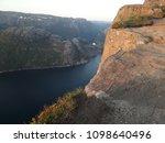 the norwegian fjord lyusebotn ... | Shutterstock . vector #1098640496