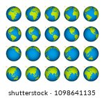 planet rotation on a white... | Shutterstock .eps vector #1098641135