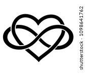 Stock vector infinity love icon 1098641762