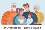 vector cartoon illustration of... | Shutterstock .eps vector #1098645365