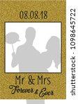 square golden glitter... | Shutterstock .eps vector #1098645722
