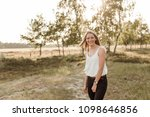 young  attractive and happy...   Shutterstock . vector #1098646856