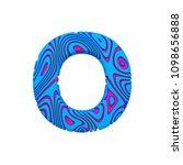 alphabet letter o uppercase.... | Shutterstock . vector #1098656888