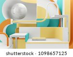colorful minimalistic empty... | Shutterstock . vector #1098657125