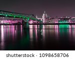 st paul's cathedral and river... | Shutterstock . vector #1098658706