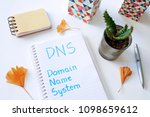 dns domain name system written... | Shutterstock . vector #1098659612