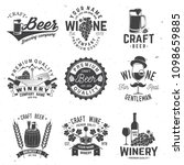 set of craft beer and winery... | Shutterstock .eps vector #1098659885